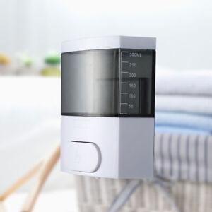 300ML Wall-mounted Push Liquid Soap Bottle Shampoo Emulsion Container Dispenser