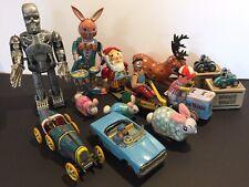 JOB LOT. Wind Up Tin Toys.