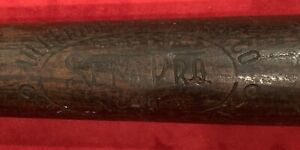 Antique 1920's Hillerich & Bradsby Semi Pro Model Decal Baseball Bat Early Old