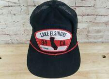Trucker Baseball Hat Lake Elsinore Storm Minor League Team Adjustable Black Red