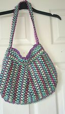 Fabulous wooden beaded bag by Next fully lined