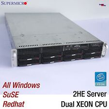"2HE 2U 48CM 19"" SERVER SUPERMICRO DUAL XEON 5060 X7DB8+ SIMLP-B SCSI  ALL OS WIN"