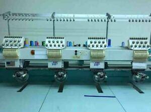 TAJIMA 4 HEAD EMBROIDERY MACHINE / 9 NEEDLE / 9 COLOR / USED
