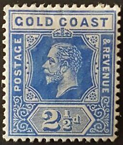 Gold Coast - 1913 - Sc 72 - 2.5p Ultramine KGV Die I  Wmk 3 VF MH