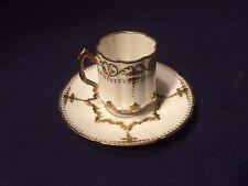 Tasse et soucoupe ancienne en porcelaine fine de Limoges