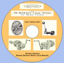Burman Gearbox Motor Cycle Maintenance Manuals & Parts Lists  Ariel,Panther,AMC