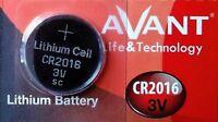 Pila AVANT CR2016 - Lithium Battery 3V - Alta Calidad - Boton Litio