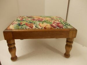 Small Light/Medium Oak Tapestry Top Footstool