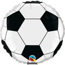 "Qualatex blanco y Negro Fútbol 9"" Rellenos Aire Mini globos de Papel Aluminio X2"