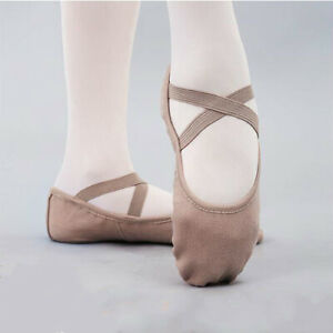 irls Ballet Dance Shoes Children Stretch Fabric Ballet Slippers Practise Shoes