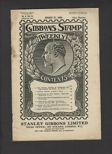 1909 GIBBONS STAMP WEEKLY MAGAZINE - 20th CENTURY COLONIALS