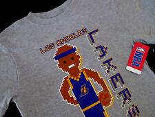 NBA LOS ANGELES LA LAKERS SHORT SLEEVE SHIRT HEATHER GRAY BOYS MEDIUM 8 NWT