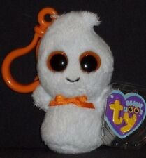 Ty Beanie Boos - Ghosty the Ghost Key Clip - Mint with Mint Tag
