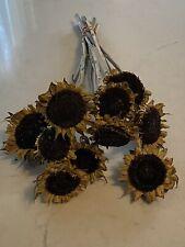 """Dried Rustic """"Prim"""" Sunflowers Bunch Bouquet Bundle * Primitive"""