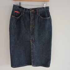 Lee Cooper Midi Denim Skirt Size 10 Blue