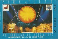RARE / TICKET CONCERT - PINK FLOYD  LIVE PARIS CHATEAU DE VERSAILLES 1988 FRANCE