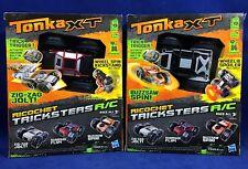 New 2 RICOCHET TRICKSTER R/C CARS - Zig-Zag Jolt & Buzzsaw Spin TONKA XT Stunts