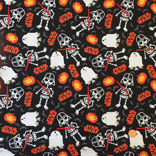 STAR WARS Glow in the Dark HALLOWEEN 100% Cotton fabric per 1/2M 112cm wide