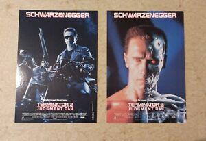 2 carte postale cinéma Arnold Schwarzenegger Terminator 2 Judgment day