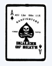 DEATH CARD. Morale Patch Ace of Spades Hook And Loop.