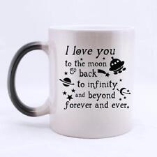 I Love You To the Moon And Back - Becher Tasse mit Farbwechsel-Effekt
