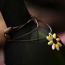 Unique China Ceramic color glaze  sunflower necklace  elegant  small gift