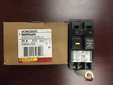 NEW SquareD HOMLINE HOM220GFI 2Pole 20Amp 120/240Volt Plug-in w/ GroundFault