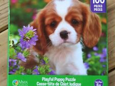 New 100 Piece Jigsaw Puzzle (Playful Puppy) Great for kids and adults!!