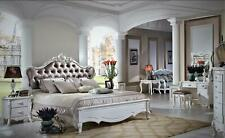 Komplettes Schlafzimmer Barock Rokoko 7 tlg. Set Bett Schminktisch Nachttisch