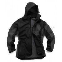 STANDSAFE MENS QUALITY SOFTSHELL HOODED BLACK WORKWEAR JACKET BLACK