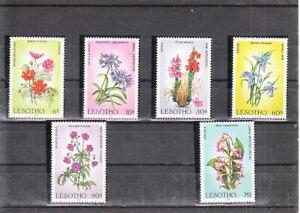LESOTHO 1985  FLOWERS SET  MNH VF