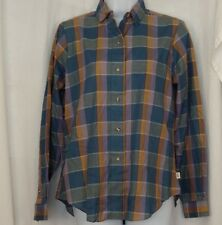 LEE Button Front Long Sleeve Plaid Shirt Womens Junior's Size 11 - 12 NEW