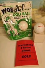 Golf Novelty Item Ball Notebook fun gift oh sh#! wobbly vintage items lot