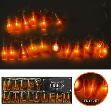 Happy Halloween Letter LED String Rope Lights Battery Indoor Party Decor Home