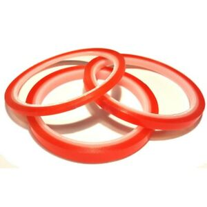 Double Sided Super Sticky Clear Tape Red Strong 5m Craft Rolls 3 6 9 12