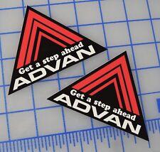 2x Advan Racing Decal Sticker Black / Red JDM DRIFT CIVIC TYPE R INTEGRA SIR SI