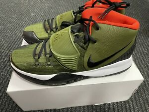 Nike Kyrie 6 By You ID Basketball Shoes Green Orange CT1019-991 Men's Size 13