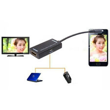 1Pc MHL Micro USB to HDMI AV TV Adapter Short Cable for LG HTC Sony Samsung HDTV