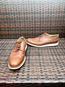 COLE Haan OriginalGrand Long Wingtip Light Brown Size 12 mens nice shoes