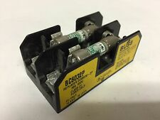 BUSS Fise Holder, BC6032P, 600V, 30A, 10-18AWG, Class CC with Fuses
