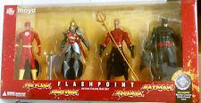 """DC DIRECT FLASHPOINT ACTION FIGURE BOX SET 6"""" FLASH BATMAN AQUAMAN WONDER WOMAN"""