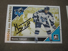 MAXIME TANGUAY AUTOGRAPHED 2007-2008 ITG HEROES AND PROSPECTS CARD