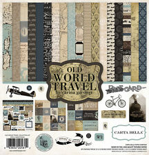 Carta Bella Paper Old World Traveler Collection 12 x 12 Collection Kit 2016