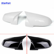 For BMW F10 F06 F12 F02 2014-2016 ABS Rearview Mirrors Cover Cap Black / White