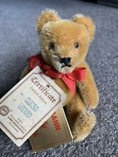 "Hermann Jointed Mohair ""No No"" Teddy Bear approximately 5"" All ID NICE NR"