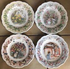 "❤️BRAMBLY HEDGE Royal Doulton ~ 4 Seasons Plates ~ Gift Collection ~ 8"" ~ EUC❤️"