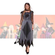 Womens Ladies Halloween Zombie Corpse Bride Costume Ghost Fancy Dress One Size