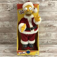 The Simpsons Homer Talking Dancing Santa Clause 2004 Gemmy Christmas New Working