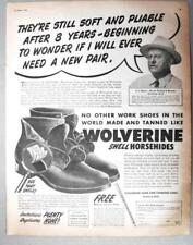 Original 1950 Shoe Ad Photo Endorsed By C E Mincer of Hamburg Iowa