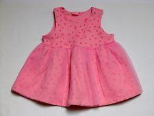 Jiaermei Asian Orential Hearts & Bows Tulle Fleece Pink Jumper Dress, 18-24 mos.